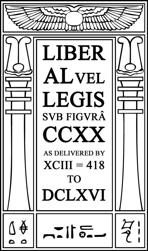 The Book of the Law, Liber AL vel Legis