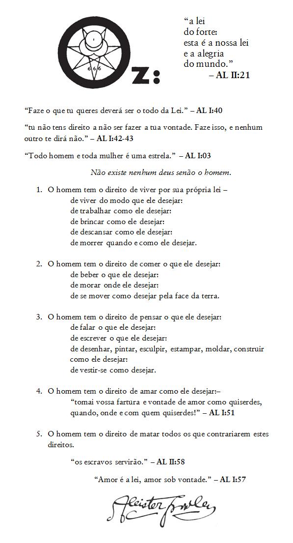 O Livro Da Lei Aleister Crowley Pdf