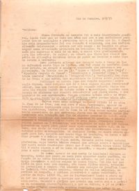 Cartas de Paulo Coelho a Euclydes Lacerda – Carta 01 – 09/08/1973 e.v.