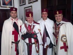 Marcelo Del Debbio juntamente com os Irmãos do Grande Priorado do Brasil