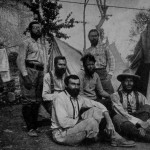 Aleister Crowley - 1902 - A Escalada do K2 (Chogo Ri). Da esquerda para a direita: Wesseley, Eckenstein, Guillarmod, Crowley, Pfannl, Knowles.