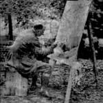 Aleister Crowley - cca. 1939 e.v. - Pintando ao ar livre
