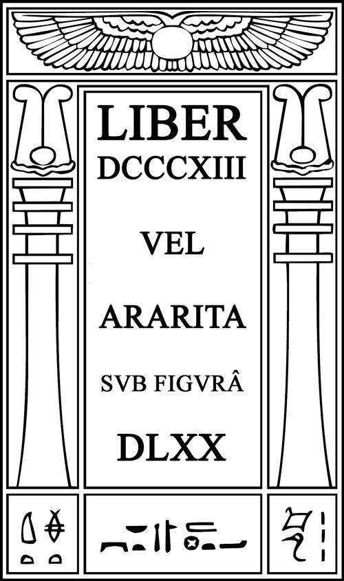 Liber DCCCXIII vel ARARITA